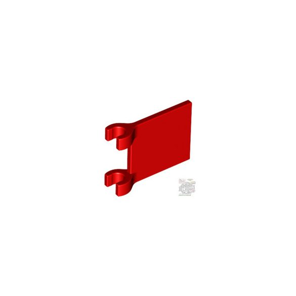 Lego FLAG WITH 2 HOLDERS, Bright red