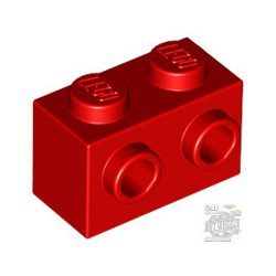 Lego BRICK 1X2 W. 2 KNOBS, Bright red