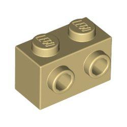 Lego BRICK 1X2 W. 2 KNOBS, Tan