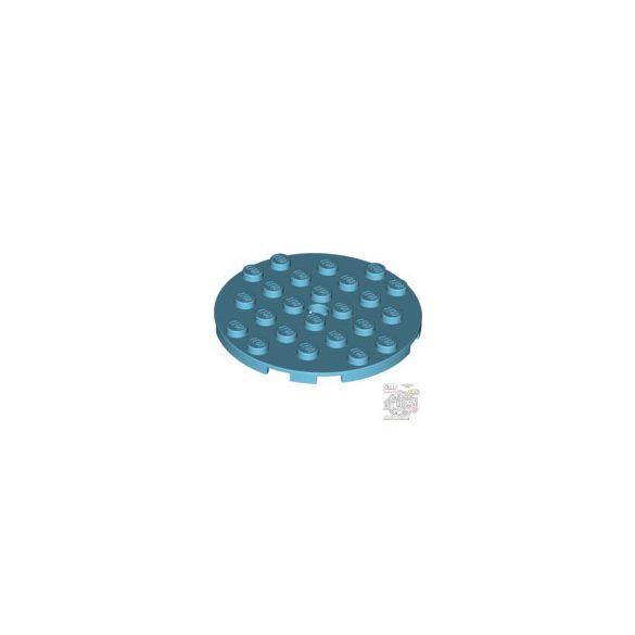 Lego PLATE 6X6 ROUND WITH TUBE SNAP, Medium azur