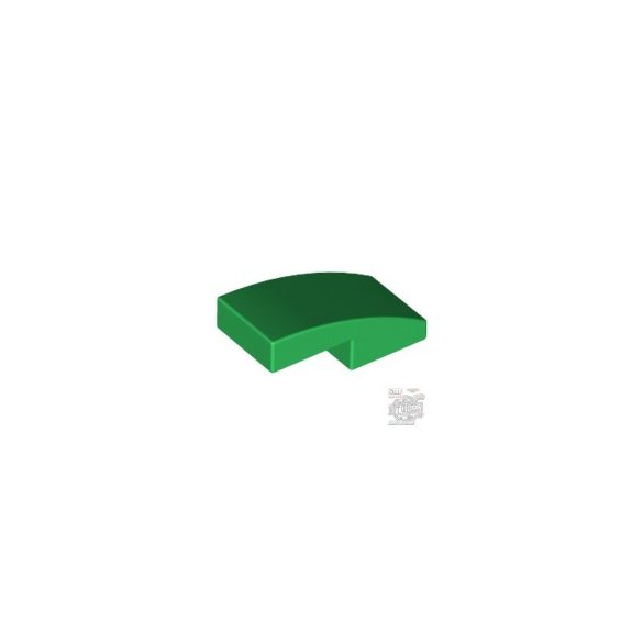 Lego PLATE W. BOW 1X2X2/3, Green