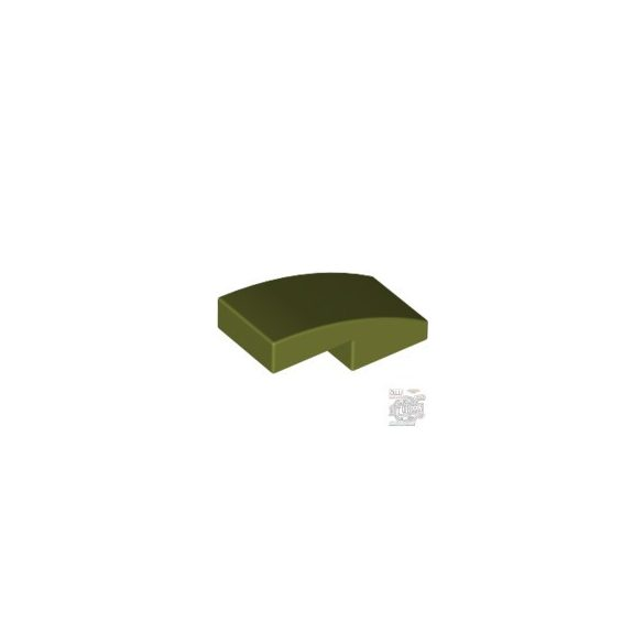 Lego PLATE W. BOW 1X2X2/3, Olive green