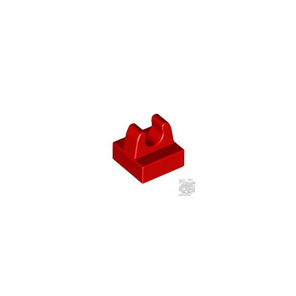 Lego PLATE 1X1 W. UP RIGHT HOLDER, Bright red