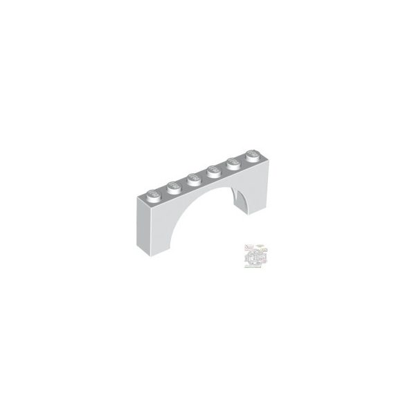 Lego BRICK W. BOW 1X6X2, White