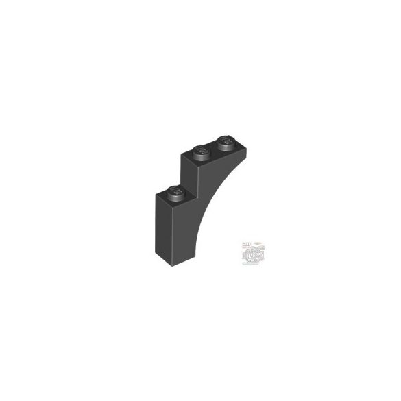 Lego Brick With Bow 1X3X3, Black