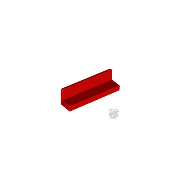 Lego WALL ELEMENT 1X4X1 ABS, Bright red