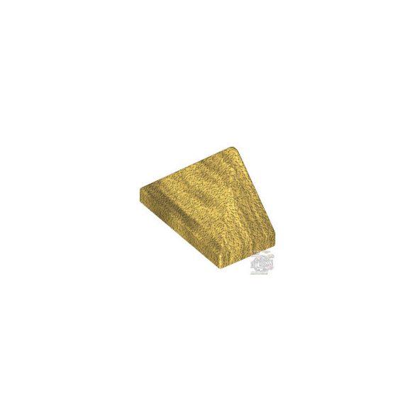 Lego END RIDGED TILE 1X2/45°, Dark gold