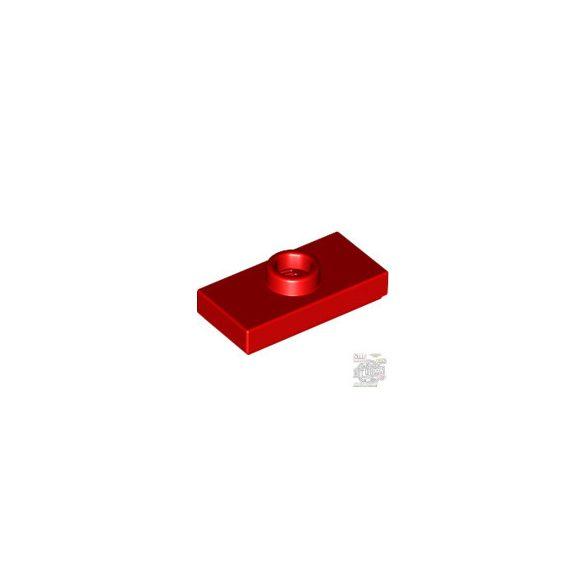Lego PLATE 1X2 W. 1 KNOB, Bright red