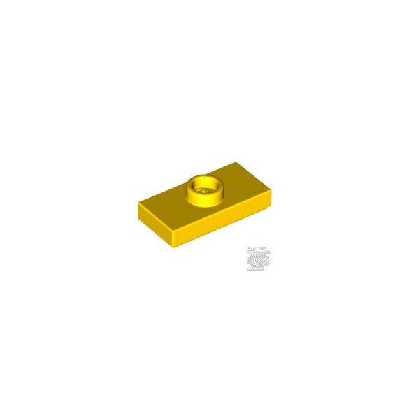 Lego PLATE 1X2 W. 1 KNOB, Bright yellow
