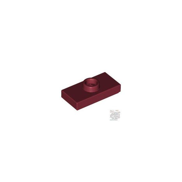 Lego PLATE 1X2 W. 1 KNOB, Dark red