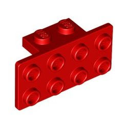 Lego ANGLE PLATE 1X2 / 2X4, Bright red