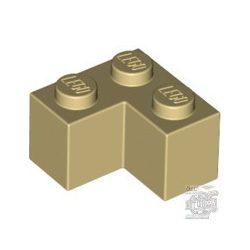 Lego Brick Corner 1X2X2, Brick yellow / Beige
