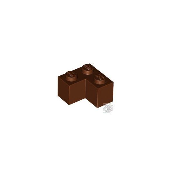 Lego Brick Corner 1X2X2, Reddish brown