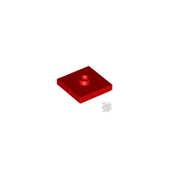 Lego PLATE 2X2 W 1 KNOB, Bright red