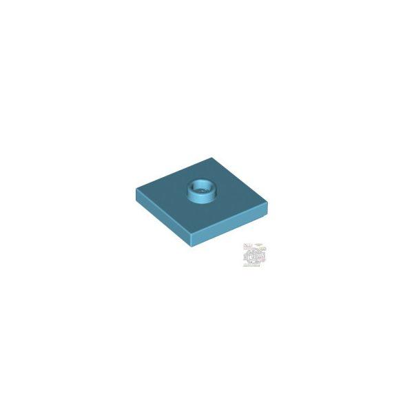 Lego PLATE 2X2 W 1 KNOB, Medium azur