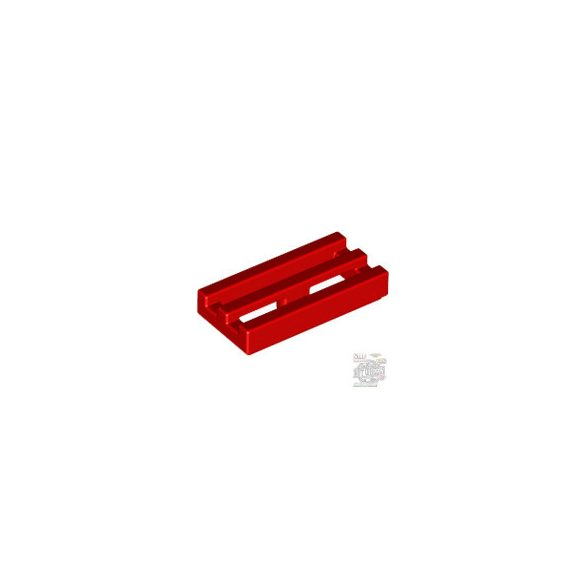 Lego RADIATOR GRILLE 1X2, Bright red