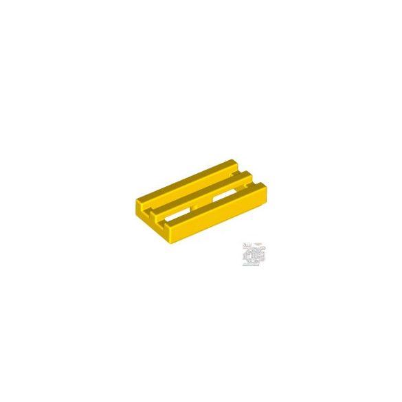 Lego RADIATOR GRILLE 1X2, Bright yellow