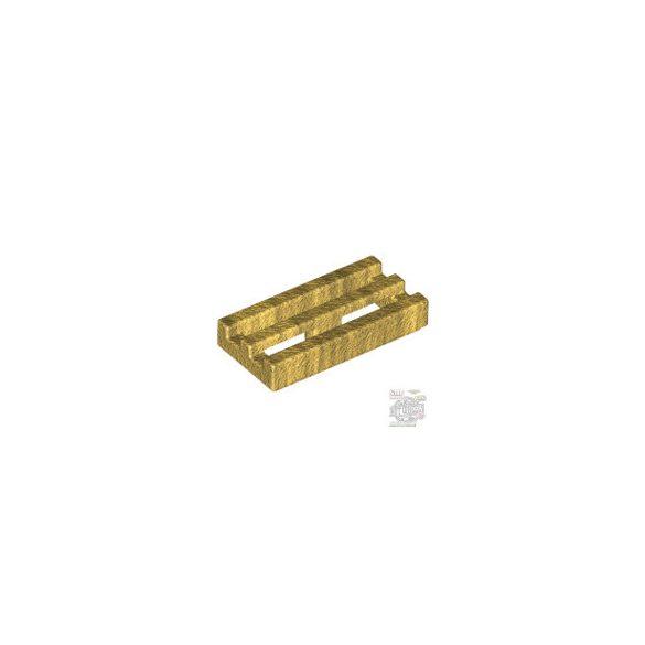 Lego RADIATOR GRILLE 1X2, Gold