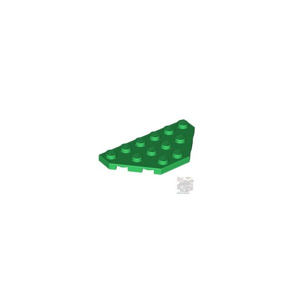 Lego Corner Plate 3X6, Green
