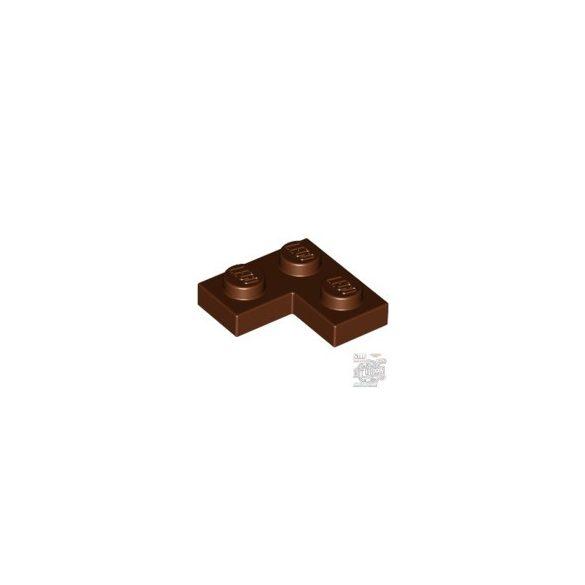 Lego Corner Plate 1X2X2, Reddish brown