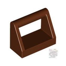 Lego CLAMP 1X2, Reddish brown