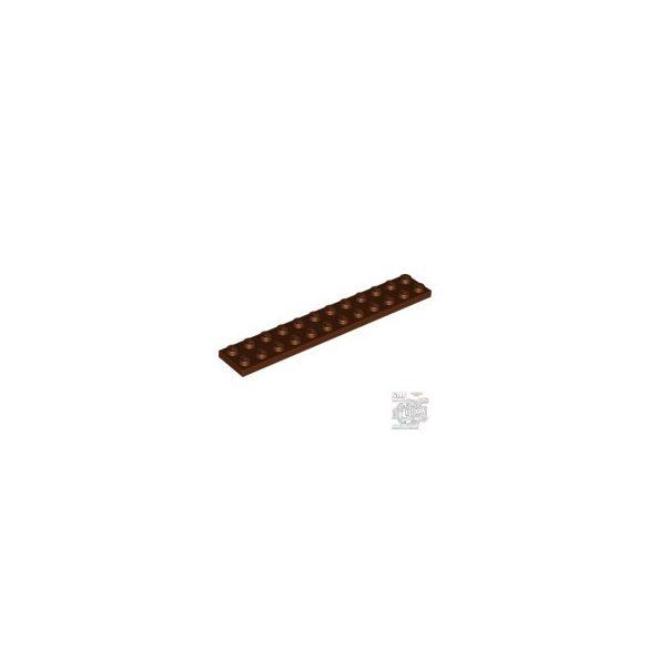 Lego Plate 2X12, Reddish brown