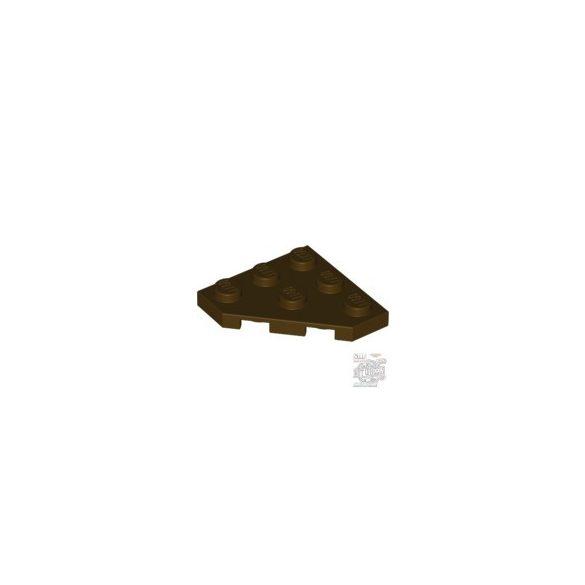 Lego CORNER PLATE 45 DEG. 3X3, Dark brown