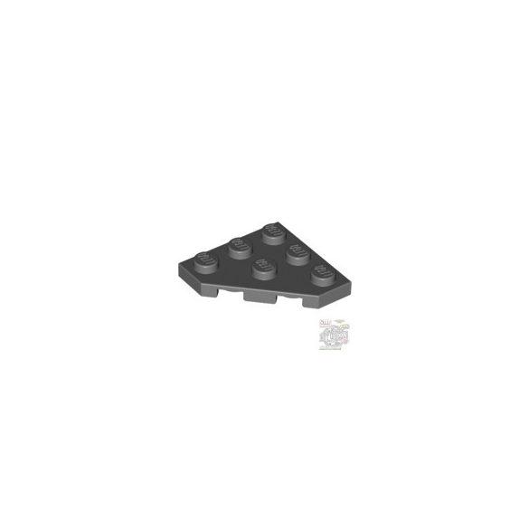 Lego Corner Plate 45 Deg. 3X3, Dark grey