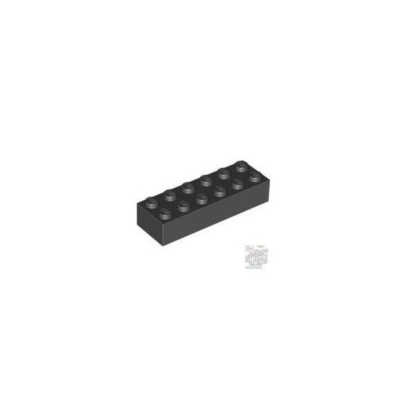 Lego Brick 2X6, Black