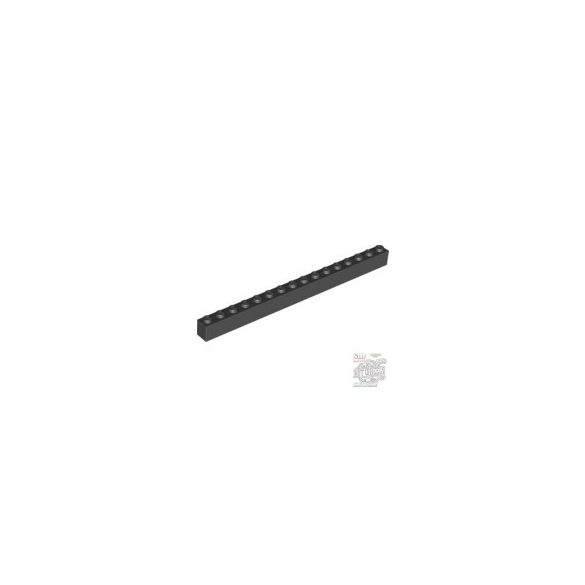 Lego Brick 1X16, Black