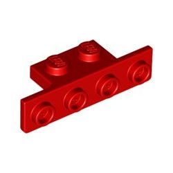Lego ANGLE PLATE 1X2/1X4 Bright red