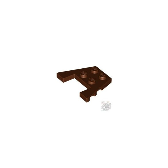 Lego PLATE 3X4 W/ANGLES, Reddish brown