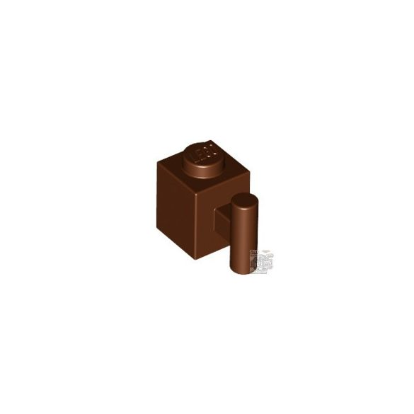 Lego BRICK 1X1 W. HANDLE, Reddish brown