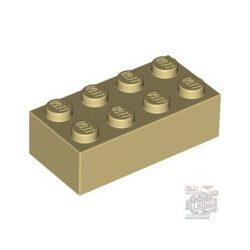 Lego Brick 2X4, Brick yellow / Beige