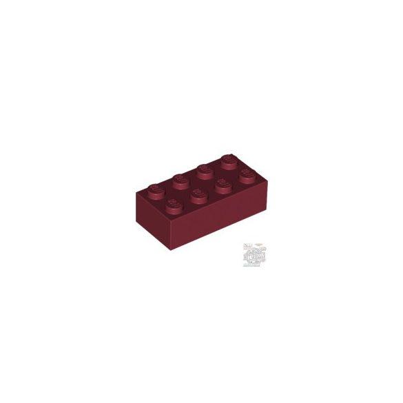 Lego BRICK 2X4, Dark red