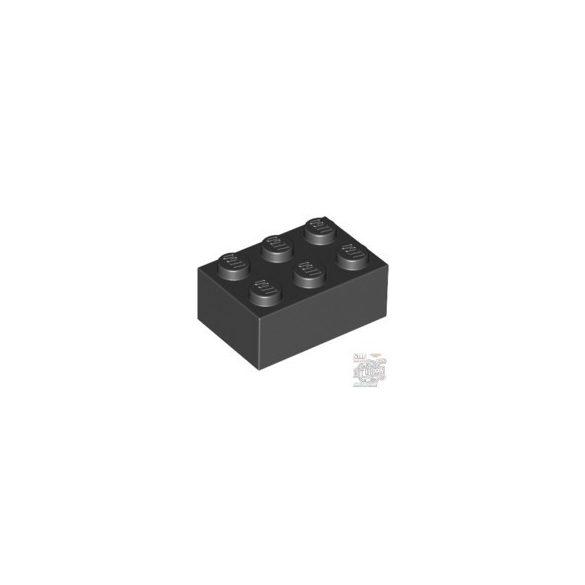 Lego Brick 2X3, Black