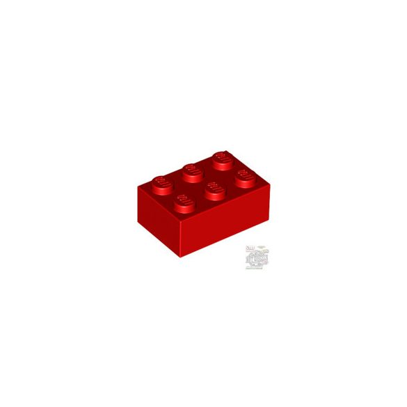 Lego BRICK 2X3, Bright red