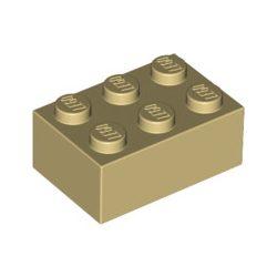 Lego Brick 2X3, Tan