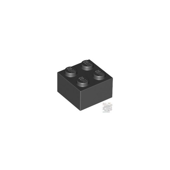 Lego Brick 2X2, Black