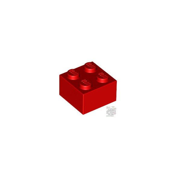 Lego BRICK 2X2, Bright red