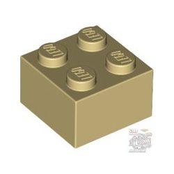 Lego Brick 2X2, Beige / Brick yellow