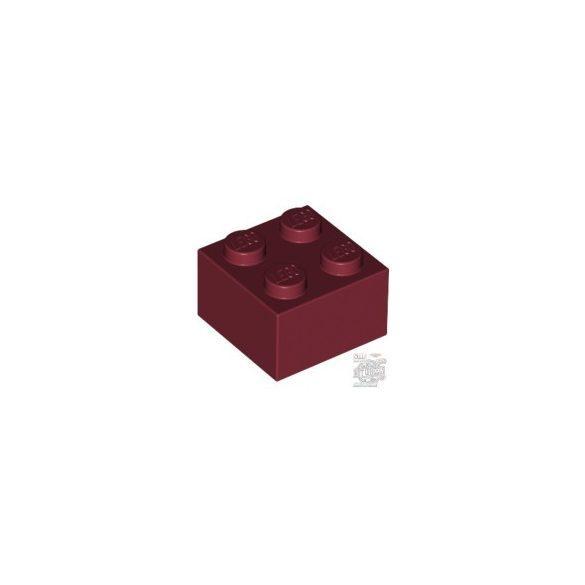Lego BRICK 2X2, Dark red