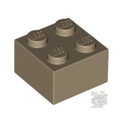 Lego Brick 2X2, Dark tan