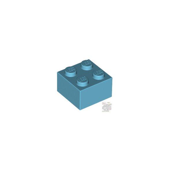 Lego BRICK 2X2, Medium azur