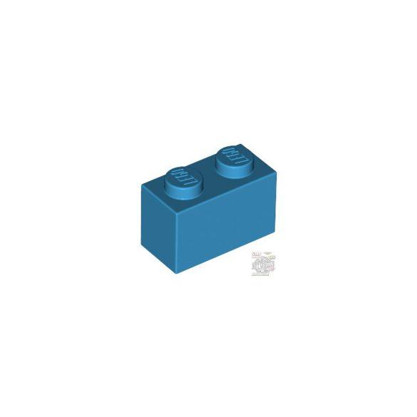 Lego Brick 1x2, Dark azur
