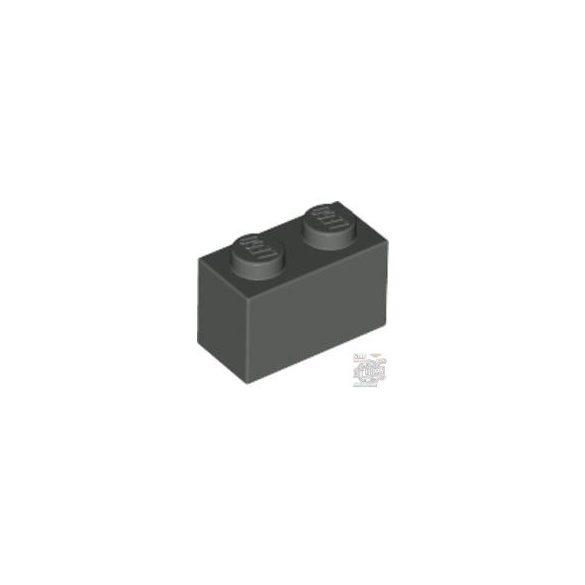 Lego Brick 1x2, Dark grey