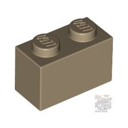 Lego Brick 1x2, Dark tan