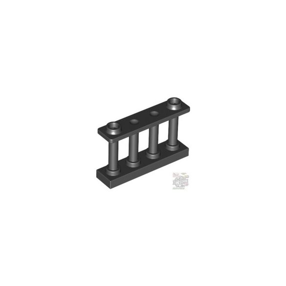 Lego Fence 1X4X2 W. 2 Knobs, Black