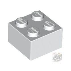 Lego Brick 2X2, White