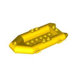 Lego Boat, Rubber Raft, Small, Bright yellow